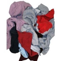 "Assorted Color ""Sweatshirt"" Rags (50 lb. Box)"