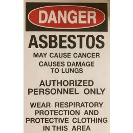 "Danger Asbestos Paper Sign, English, 11""x17"" (100/PKG)"