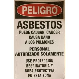 "Danger Asbestos Paper Sign, Spanish, 11""x17"" (100/PKG)"