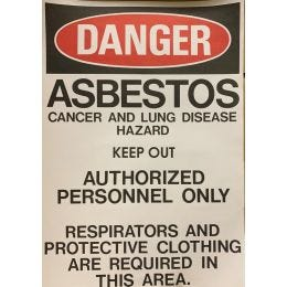 "Danger Asbestos Paper Sign, English, 14""x20"" (100/PKG)"