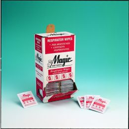 Magic® Alcohol-Based Respirator Cleaning Wipes. Open