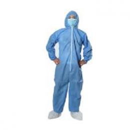 Economy Polypropylene Coveralls with Hood & Boots, Blue (25/CS)