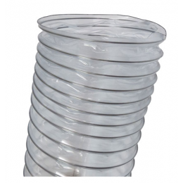"Clear Wire Reinforced Flex Ducting, 8"" x 25'"