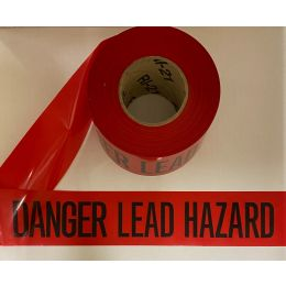 Danger Lead Barrier Tape, Red with Black Letters, (1 Roll)