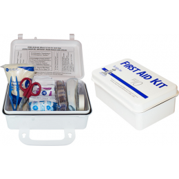 The Safety Zone® 10 Person Plastic First Aid Kit with Wall Mountable Handle, Each