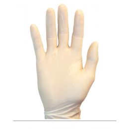 The Safety Zone® Powdered Natural Latex Gloves, Medium