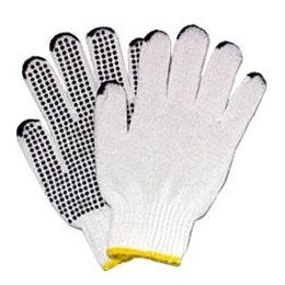 The Safety Zone® Men's Cotton Polyester String Knit Glove w/ PVC Dotted Grip, GSBS-MN-2C-20 (12 PR)
