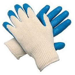 The Safety Zone® Men's Blue/Natural Coated Knit Glove, GSPC-MN-2C (12 PR)
