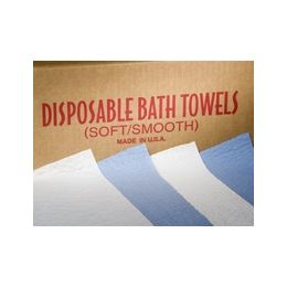"Disposable Bath Towels, 15""x30"", Blue, 2-Ply Scrim (300/CS)"