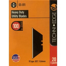 "Techni-Edge ""92 Style"" Box Cutter Utility Knife Blades (100/BX)"