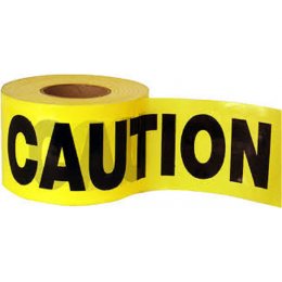 """Caution Barrier Tape, Yellow, 3""""x1000' Each Roll"""