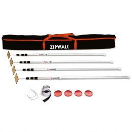 ZipWall® 12' Spring-Loaded Dust Barrier Poles , 4 Pack