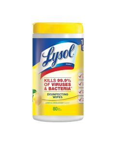 *IN STOCK!* Lysol® Disinfecting Wipes - Lemon & Lime Blossom® (80 CT)